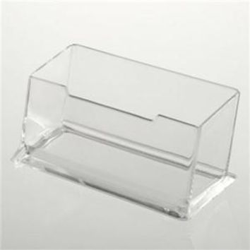 Fashion New Precision Fine Clear Plastic Desktop Business Card Holders Display Stands Note Holder