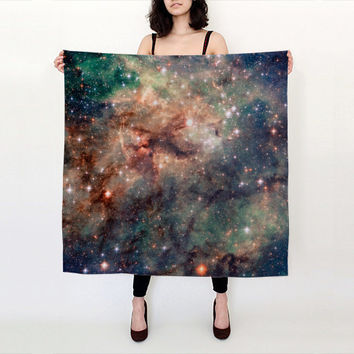Nebula Silk Scarf, Milky Way Galaxy Nebula Stars, Fashion Accessories, Gift for Her, Tarantula Nebula