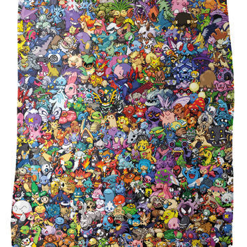 Pokemon Collage Fleece Blanket