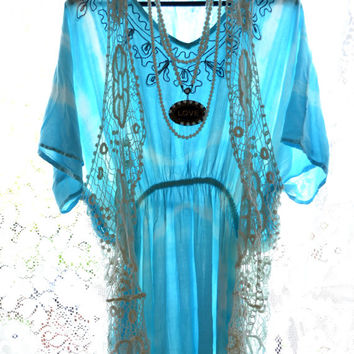 High Low Dresses, Bohemian Hippie chic Style, Boho clothes, Festival dresses, Romantic ruffle dresses, turquoise, True rebel clothing