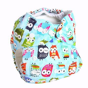 Bear Leader Baby Nappies 2018 Cartoon Unisex One Size Baby Washable Cloth Nappy Reusable Pocket Diaper Suit 0-2 years 3-15kg