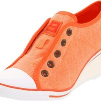 9 West Original Sneakers Women`s Britt Sneaker,Orange,8.5 M US