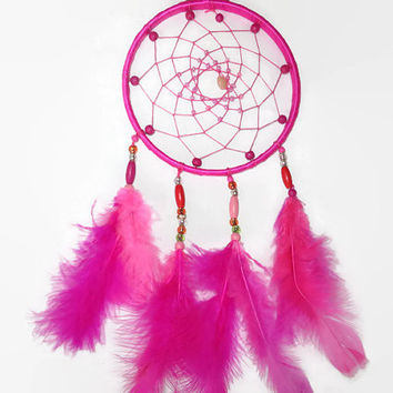 FREE SIPPING. Pink  Dream Catcher. Bohemian Decor. Large Dream Catcher. Nursery Mobile. Pink Nursery Decor