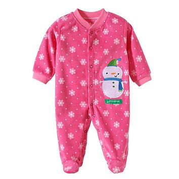 2017 Winter Baby Clothing Newborn Baby Boy Girl Clothes Baby Rompers Overalls Fleece Cartoon Baby Clothes Jumpsuits Costume PF-5