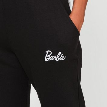Missguided - Petite Barbie x Missguided Black Plain Jogger
