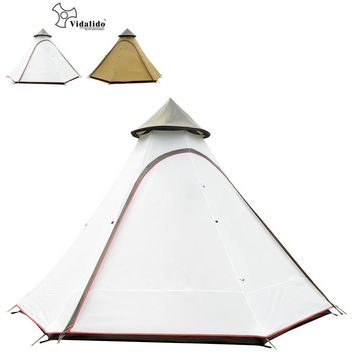 High quality ultralarge 5-8persons double layer indian mongolia hexagonal camping family tent Large multiplayer outdoor camping