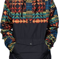 Empyre Pac Trail Text Print Anorak Jacket