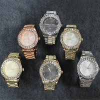 Presidential Look Iced Out Bezel Watch