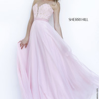 Sherri Hill 32180 Lace Chiffon Sale Prom Dress