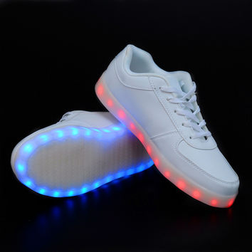 Colorful Glowing Shoes with New Simulation Sole, LED shoes for adults