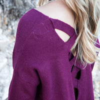 Fallen Oversized Sweater, Burgundy