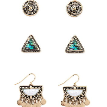 Faux Shell Earring Set
