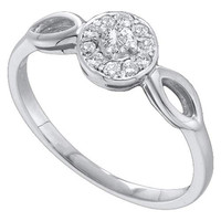 Round Diamond Fashion Ring in 14k White Gold 0.25 ctw