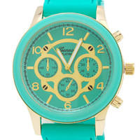 two-tone-silicone-watch IVORYRGOLD MINTGOLD PINKRGOLD - GoJane.com