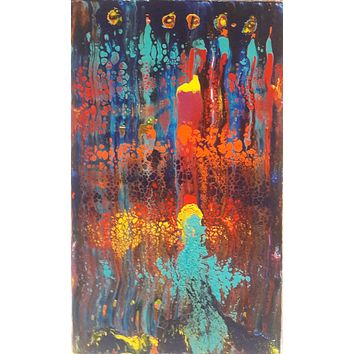 ORIGINAL HANDMADE RUNNING OF COLOR ABSTRACT PAINTING