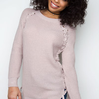 Let It Rain Sweater - Dusty Mauve