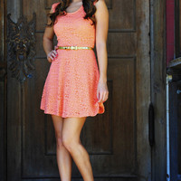 Free To Flirt Dress: Bright Coral | Hope's