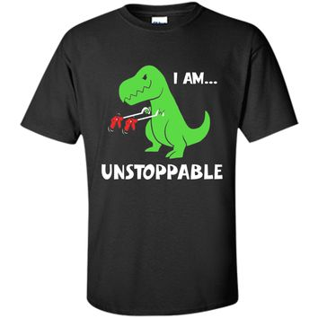 T-rex Dinosaur I Am Unstoppable T-shirt Xmas cool shirt