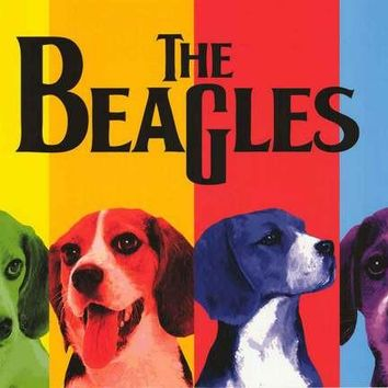 The Beagles Beatles Dog Parody Poster 24x36