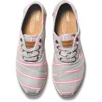 Pink Washed Stripe Women's Cordones