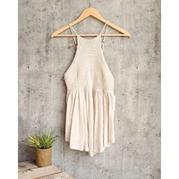 free people - road trip crochet tank - taupe