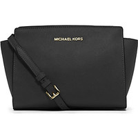 MICHAEL MICHAEL KORS - Selma medium leather cross-body bag | Selfridges.com