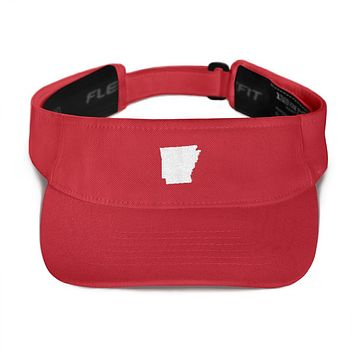 Arkansas Embroidered State Shape Visor