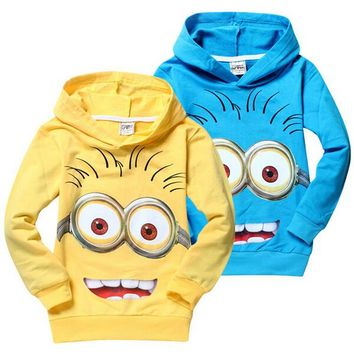 OB Cartoon Minion Boys Girls Hoodie 2T to 10yrs