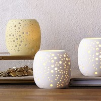 Pierced Porcelain Tealights - Constellation