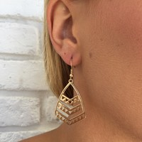 Jagged Edge Earrings In Gold