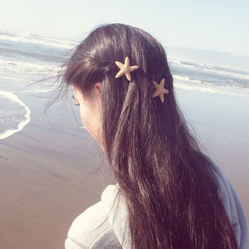 Starfish Hair Clips - Beach Bridal Hair Accessories - Beach Wedding Accessories - Cute Adorable Romantic Whimsical Dreamy Sea Stars Mermaid