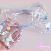 Clear Transparent Fairy Kei Hair Bow