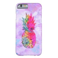Bright Neon Hawaiian Pineapple Tropical Watercolor
