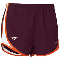 Nike Virginia Tech Hokies Women's Tempo Performance Training Shorts - Maroon