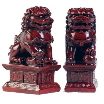 Chinese 4 Inch Fu Temple Dogs Statue