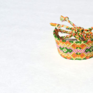 Friendship Bracelet - Think Intricate Diamond Pattern - Handmade