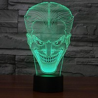 Amazing 3D Illusion led Table Lamp Night Light with joker shape FS-2832