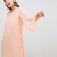 Y.A.S All Over Pleated Shift Dress at asos.com