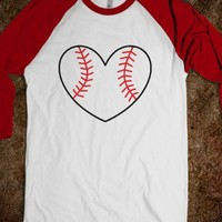 Baseball Love MLB Heart - Softball (red)