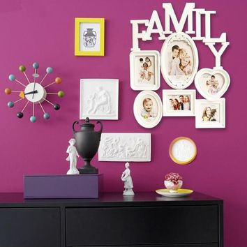 Family photo frame European creative wedding photo combination frame photo wall decoration Picture frame new Year decoration