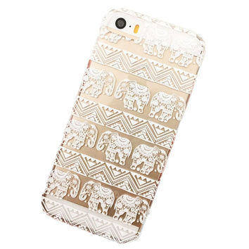 Henna Lotus Floral Elephant Hindu Ganesh Case Cover for iPhone 5C