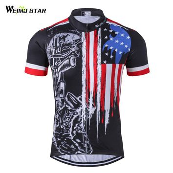 USA Style Team Pro Cycling Jersey Ropa Ciclismo MTB Bike Clothing Cycling Wear Racing Bicycle Clothes Maillot Cycling Tops