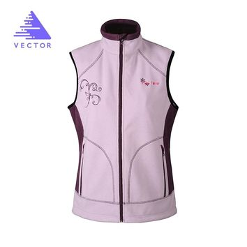 VECTOR Sleeveless Vest Jacket For Women Warm Windproof Polartec Sport Outdoor Vest For Running  Camping Hiking 90003