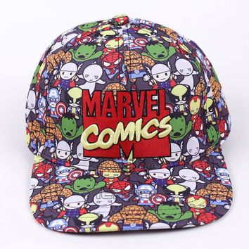 3519d70c6e741 Marvel Comics The Avengers Men Women 2017 Fashion Baseball Cap Cartoon  Adjustable Snapback Hat Street