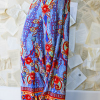 Red Hibiscus Palazzo Pants