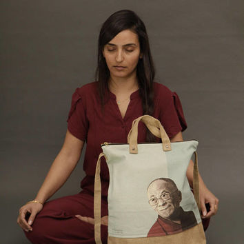 Dalai lama, Cross body bag, Womens Bags, Large Travel Bag, Tote bag, Vegan Bag, Jute bag, big tote bag, large bag, canvas tote bag