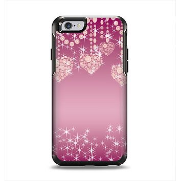 The Pink Sparkly Chandelier Hearts Apple iPhone 6 Otterbox Symmetry Case Skin Set