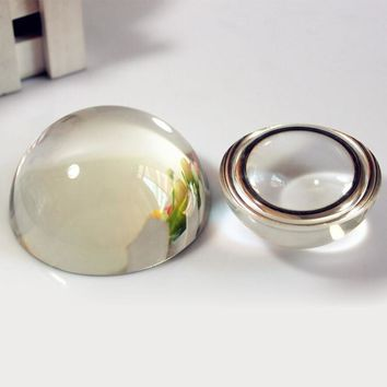 Glass Dome Paperweight Sphere Paper Weight Crystal Transparent Half Ball Sphrer Crystal Craft
