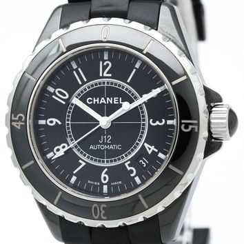 CHANEL J12 Ceramic/Rubber belt Black dial H0684 Automatic Used Good D17