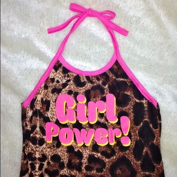 SWEET LORD O'MIGHTY! GIRL POWER LEOPARD HALTER